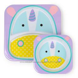 Набор детских тарелок Скип Хоп Единорог Skip Hop Zoo Melamine Plate & Bowl
