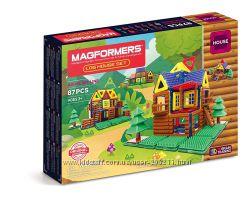 Магнитный конструктор Magformers Log Cabin Мой домик в лесу, 87 элементов