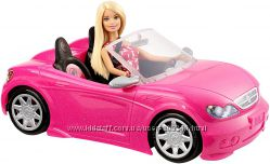 Кукла Барби и гламурный кабриолет автомобиль Barbie Convertible машина