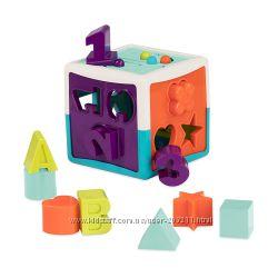 Развивающая игрушка-сортер - Умный куб 12 форм Battat