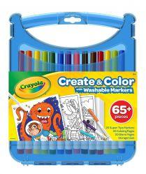 Набор Крайола 65 предметов в удобном кейсе Crayola Create &acuten Color