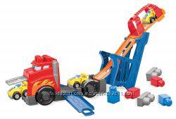 Mega Bloks Fast Tracks Racing Rig. Грузовик-пусковая установка Мега Блокс