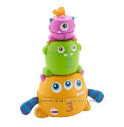 Развивающая игрушка Fisher-Price Монстрики 2 в 1 Stack & Nest Monsters