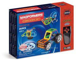 Магнитный конструктор Magformers Funny Wheel с пультом управления