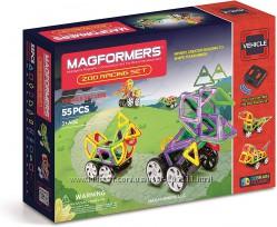 Магнитный конструктор Magformers Zoo Racing Магформерс Зоо гонки, 55 эл.