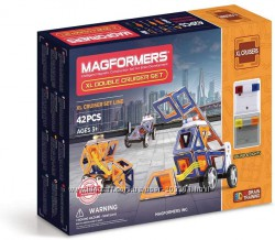 Магнитный конструктор Magformers XL Double Cruiser Set, Суперкрейсер 42 дет