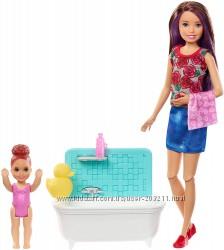 Кукла Барби няня Barbie Skipper Babysitters Inc. Bathtime Playset