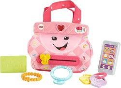 Fisher-Price My Smart Purse Фишер прайс музыкальная сумочка с аксессуарами