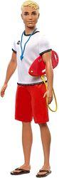 Кукла Кен спасатель на пляже Barbie Careers Ken Lifeguard Mattel