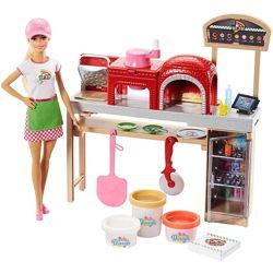 Набор кукла Барби Пицца-шеф Barbie Pizza Chef с пластилином
