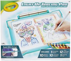 Crayola Light-up Tracing Pad. Планшет с лед подсветкой от Крайола бирюзовый