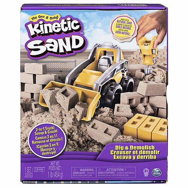 Набор кинетического песка с бульдозером Kinetic Sand, Dig & Demolish Truck