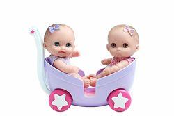 Пупсы беренджер Биби и Лулу в коляске Lil Cutesies stroller JC Toys