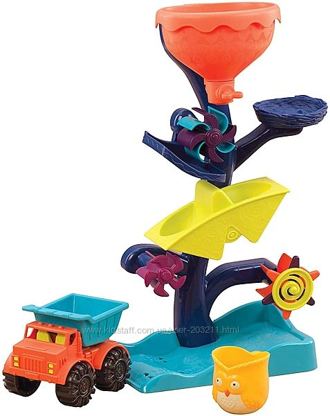 Игрушка для пляжа Баттат B. toys by Battat Owl About Waterfalls Water Wheel