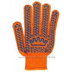 перчатки Корона чёрные, оранжевые