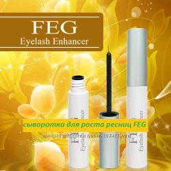 Натуральная сыворотка для роста ресниц FEG в наличии