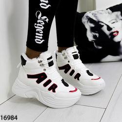 Кроссовки зимние белые, кроссовки кожаные зима, женские зимние кроссовки