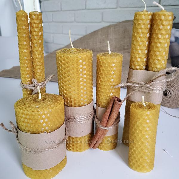 Натуральные свечи из вощины пчелиного воска ручной работы