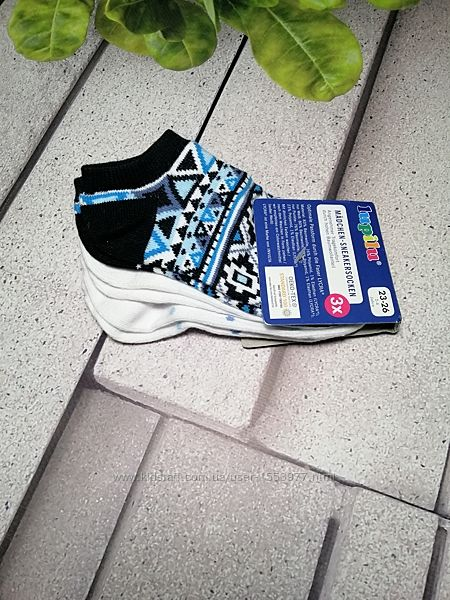 Носочки детские три пары набор короткие для кроссовок