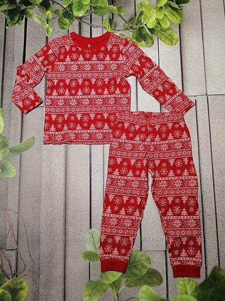 Пижама для мальчика новогодняя красная