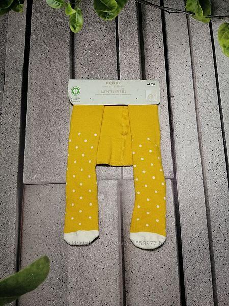 Махровые колготки для малышей яркого желтого цвета