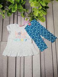 Повсякденний комплект для дівчинки футболка і леггінси
