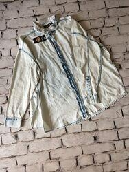 Джинсова рубашка жіноча сорочка котон для дівчини голуба