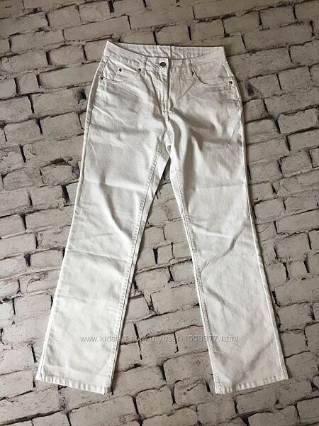 Джинсы белые брюки женские штаны как униформа для медика
