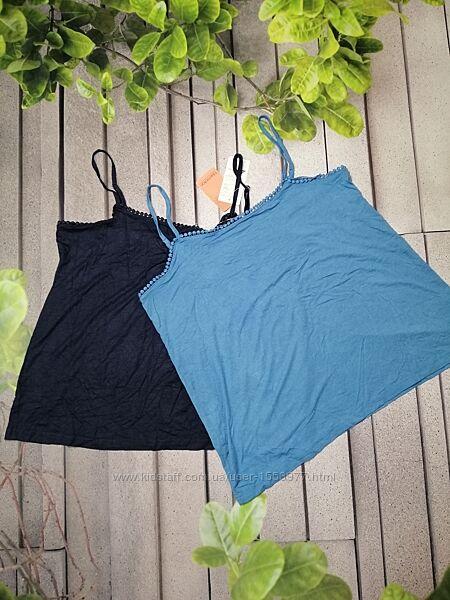 Набор из двух летних маек вискоза синяя и голубая