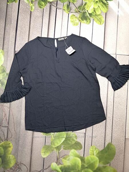 Шифоновая блуза свободного кроя рукав три четверти