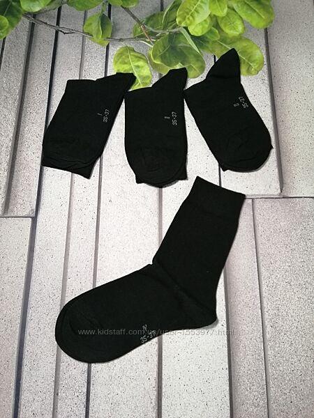 Носочки женские четыре пары черные классическая высота