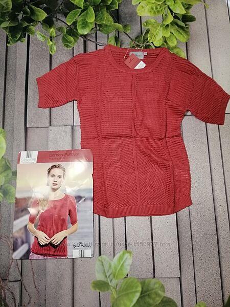Вязаный пуловер с коротким рукавом лето