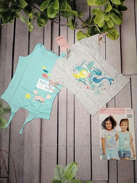 Детские летние топы два в упаковке майка и футболка русалки