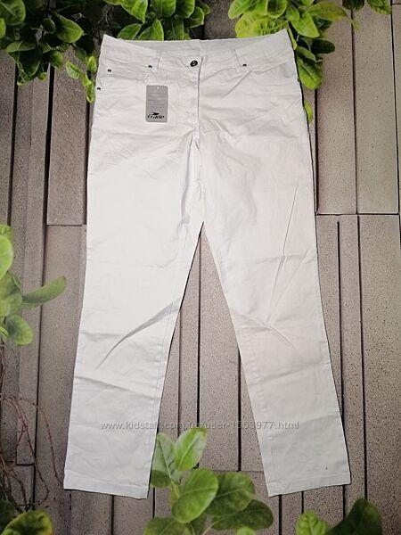 Брюки белые унисекс прямые униформа хлопковые