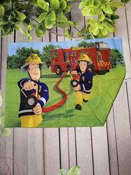 Детская наволочка пожарный Сэм принт