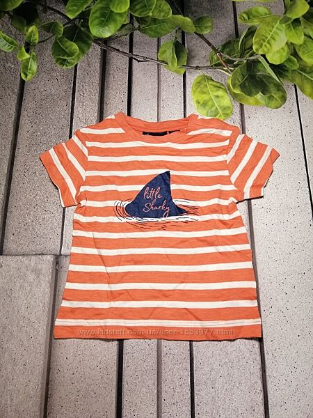 Повседневная футболка в полосочку для малыша