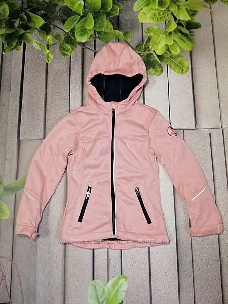 Розовая курточка из софтшелла на девочку демисезон