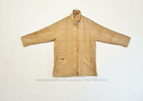 Куртка ветровка бежевая на подкладке спандекс женская р54-56 ADA