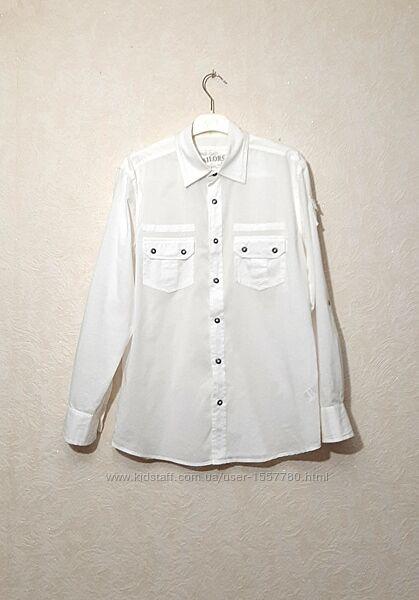 Рубашка мужская белая длинный рукав ворот 38/41 бренд Burton