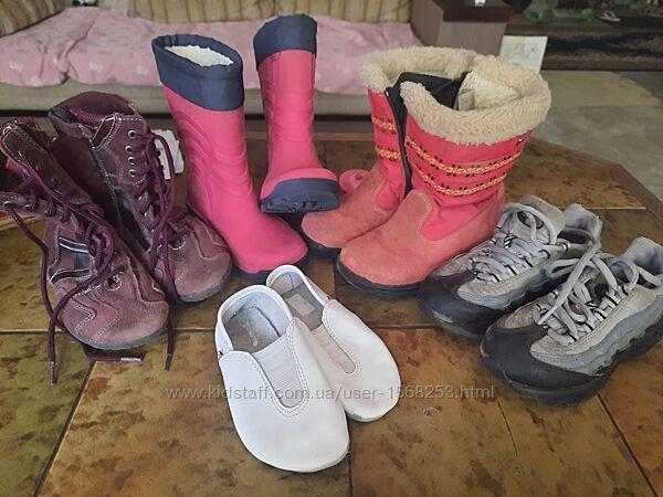 Обувь для девочки сапоги резиновые сапожки ботинки кроссовки чешки