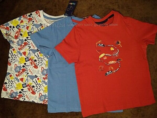 Набор футболок для мальчика lupilu, 3 шт. , 98-104 см
