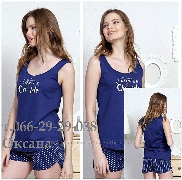 Пижама женская с шортами майкой Vienetta secret