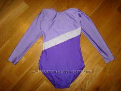 Спортивный гимнастический эластичный купальник р. 2 на 10-12 лет