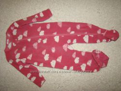 Флисовый человечек слип пижама Next на 1-1, 5 года рост 86 см