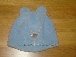 Очень классная  шапочка меховушка мишка на хб подкладке 48см