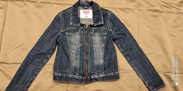 Джинсовый модный пиджак для девочки