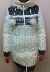 Зимнее пуховое пальто Clasna, идеальное состояние.