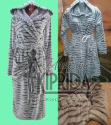 Шикарный халат махровый женский шиншилла