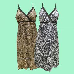 Ночная рубашка леопард вискоза