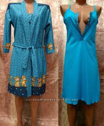Комплект для мам ночная рубашка и халат Инга